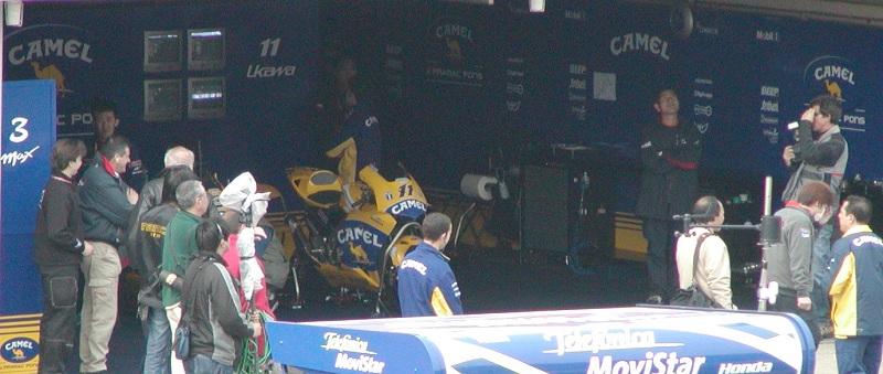 2003年4月4日 日本GP 鈴鹿サーキット CAMEL Honda #11 宇川徹(Tohru UKAWA)