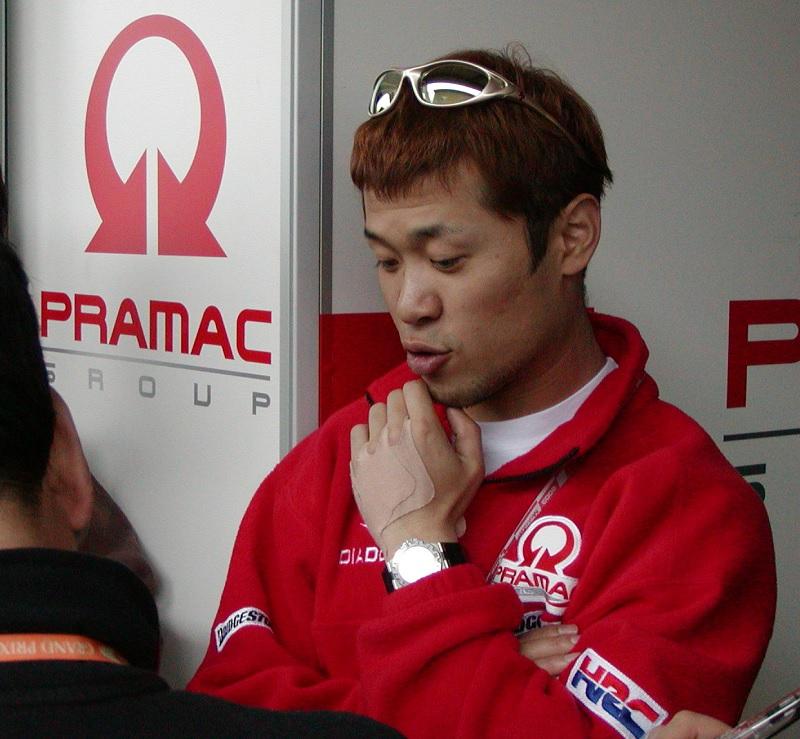 2003年4月4日 日本GP 鈴鹿サーキット PRAMAC Honda # 玉田誠(Makoto TAMADA)