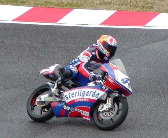 2003年4月5日 日本GP 鈴鹿サーキット ヘアピンコーナー GP125ccクラス #41 宇井陽一(Yohichi UI)