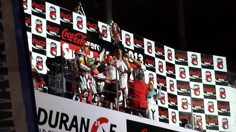 2013/07/28 鈴鹿8耐 鈴鹿サーキット 表彰台