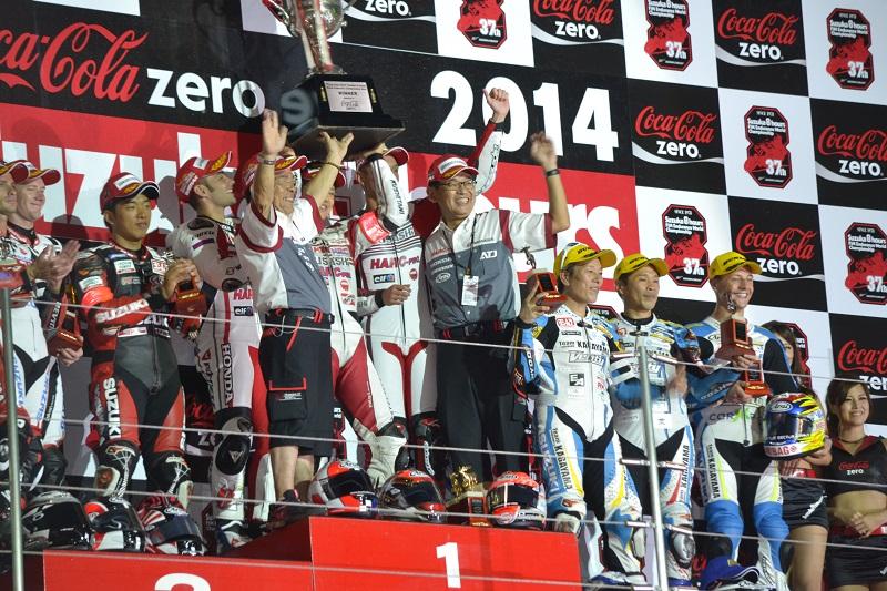 2014/07/27 鈴鹿8耐 鈴鹿サーキット 表彰台
